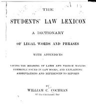 The Students  Law Lexicon PDF
