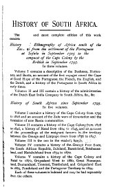 History of South Africa: From 1795-1872, Volume 3