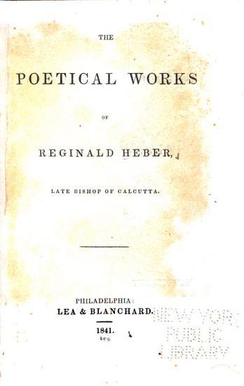 The Poetical Works of Reginald Heber PDF