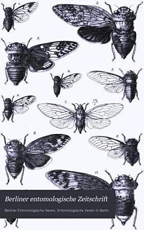 Berliner entomologische Zeitschrift PDF