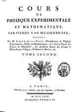 Cours de physique expérimentale et mathématique: Volume2