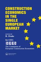 Construction Economics in the Single European Market PDF