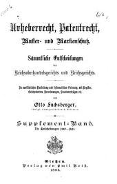 Die Entscheidungen des Reichsgerichts: Band 6