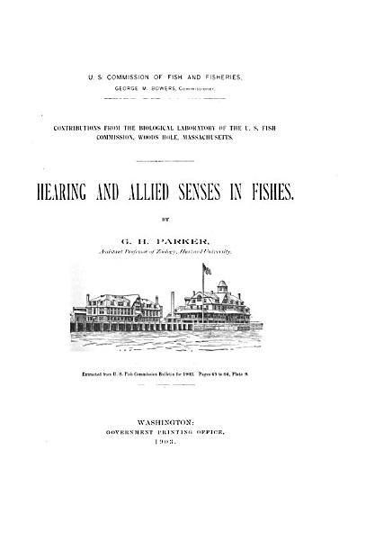 Hearing and Allied Senses in Fishes PDF