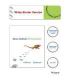 Real World Psychology Binder Ready Version   WileyPLUS Registration Card