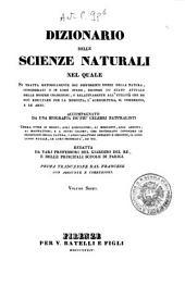 Dizionario delle scienze naturali nel quale si tratta metodicamente dei differenti esseri della natura, ... accompagnato da una biografia de' piu celebri naturalisti, opera utile ai medici, agli agricoltori, ai mercanti, agli artisti, ai manifattori, ...: 6: CER-CIV.