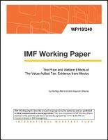 The Price and Welfare Effects of The Value Added Tax  Evidence from Mexico PDF