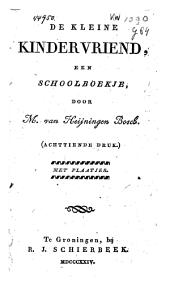 De kleine kindervriend: een schoolboekje