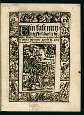Ein fast nutzlich Außlegu[n]g des ersten Psalme[n]: Beatus vir qui non abijt in consilio impiorum