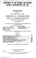 Department of the Interior and Related Agencies Appropriations for 1987  without special title PDF