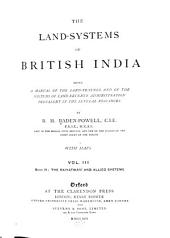 The Land-systems of British India: Volume 3