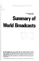 Summary Of World Broadcasts Book PDF