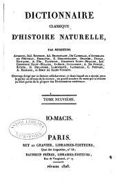 Classique d'Histoire Naturelle par MM. Audouin, Bourdon, Brongniart, De Candolle, &c., avec Atlas: Volume9