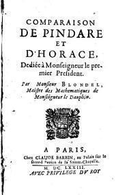 Comparaison de Pindare et d'Horace