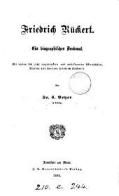 Friedrich Rückert, ein biographisches Denkmal