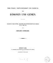 Über Wesen, Verwandschaft und Ursprung der Dämonen und Genien: Volume 2