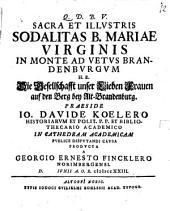 Sacra et illustris sodalitas B. Mariae Virginis in Monte ad Vetus Brandenburgum