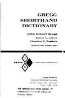 Gregg Shorthand Dictionary  Diamond Jubilee Series PDF