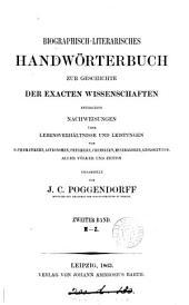 Biographich-literarisches Handwörterbuch zur Geschichte der exacten Wissenschaften (herausg. von B.W. Feddersen [and others]).