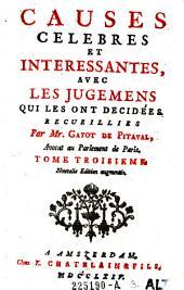 Causes celebres et interessantes, avec les jugemens qui les ont decidees: Volume3