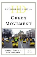 Historical Dictionary of the Green Movement PDF