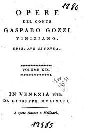 Opere del conte Gasparo Gozzi viniziano: 19: Rime piacevoli