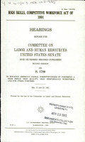 High Skills  Competitive Workforce Act of 1991 PDF