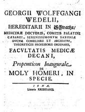 Propemticon Inaugurale, De Moly Homeri, In Specie