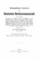 Deutsches Privatrecht: Band 2