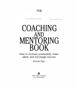 The everything coaching and mentoring book PDF