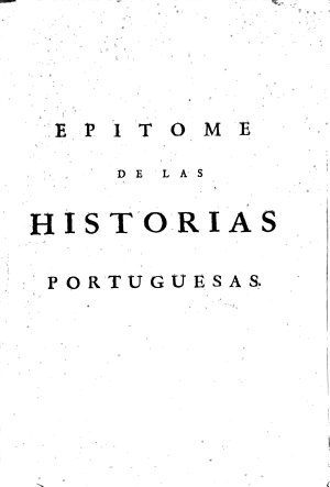 Epitome de las historias Portuguesas PDF