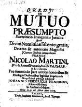 De mutuo praesumpto, resp. Johanne Friderico Hennings