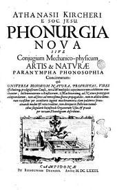 Phonurgia admirandorum per sonos effectuum productrix ad Leopoldum ...