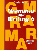 Saxon Grammar   Writing Grade 6 Teacher Packet PDF