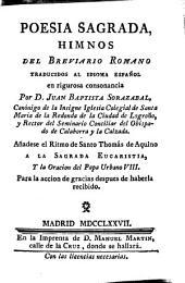 Poesía sagrada: himnos del breviario romano