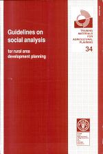 Guidelines on Social Analysis for Rural Area Development Planning