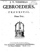 J. v. Vondels Gebroeders. Treurspel