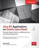 Java EE Applications on Oracle Java Cloud: