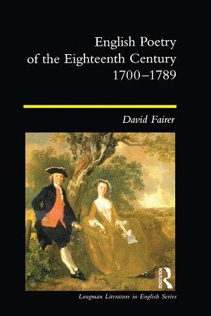 English Poetry of the Eighteenth Century  1700 1789 PDF