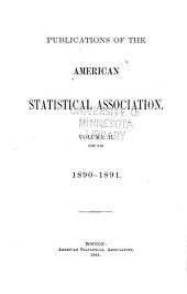Publications of the American Statistical Association: Volume 2