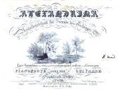 Alexandrina. Neujahrgeschenk für Freunde des Gesanges. Eine Sammlung von ein- und zweistimmigen Liedern und Gesängen mit Begleitung des Pianoforte oder der Guitarre. 43tes. Werk