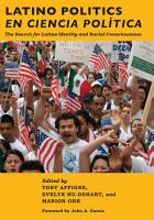 Latino Politics en Ciencia Pol  tica PDF
