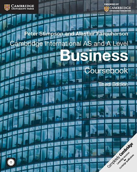 Cambridge International AS and A Level Business Coursebook with CD ROM PDF