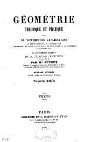 Géométrie théorique et pratique...
