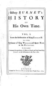 Bishop Burnet's history of his own time ...