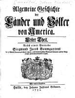 Algemeine Geschichte der L  nder und V  lker von America PDF