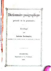 Dictionnaire pasigraphique précedé de la grammaire