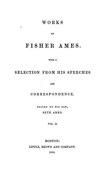 Works of Fisher Ames PDF