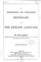 A Phonographic and Pronouncing Dictionary of the English Language PDF