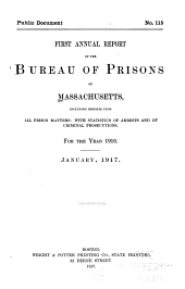 Annual Report of the Bureau of Prisons of Massachusetts ...